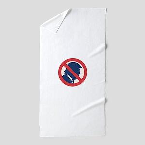 Anti President Trump Beach Towel