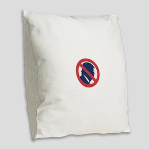 Anti President Trump Burlap Throw Pillow