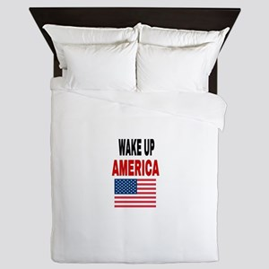 WAKE UP AMERICA Queen Duvet
