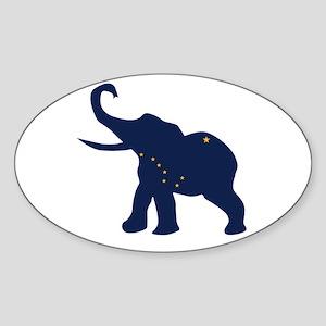 Alaska Republican Elephant Flag Sticker
