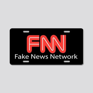 Fake News Network Aluminum License Plate