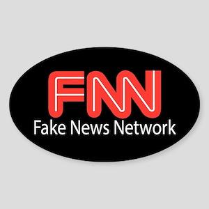 Fake News Network Sticker (Oval)