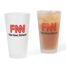 Fake News Network Drinking Glass