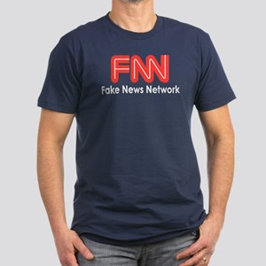 Fake News Network Men's Fitted T-Shirt (dark)
