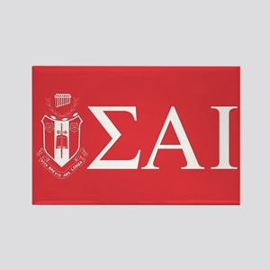 Sigma Alpha Iota Letters Crest Rectangle Magnet