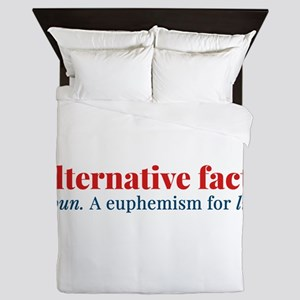 Alternative facts: a euphemism for lie Queen Duvet