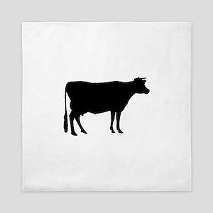 Cow: Black Queen Duvet