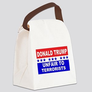 Unfair To Terrorists! Canvas Lunch Bag