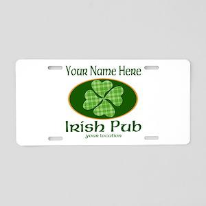 Irish Pub Aluminum License Plate