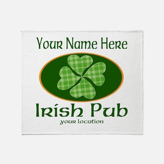Irish Pub Throw Blanket