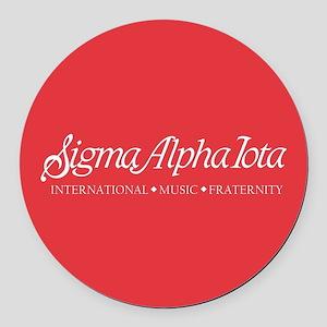 Sigma Alpha Iota Round Car Magnet