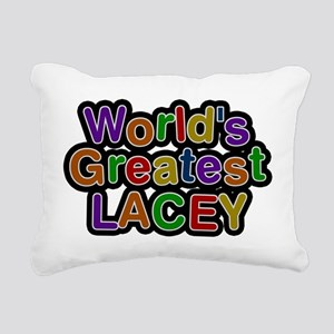 Worlds Greatest Lacey Rectangular Canvas Pillow