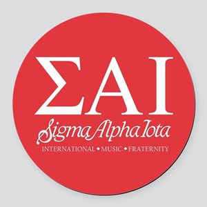 Sigma Alpha Iota Letters Round Car Magnet