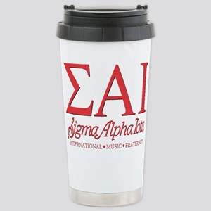 Sigma Alpha Iota Letter Stainless Steel Travel Mug