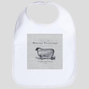 farm animal sheep farmhouse Baby Bib