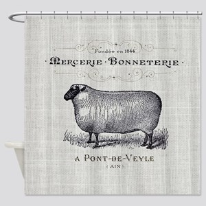 farm animal sheep farmhouse Shower Curtain