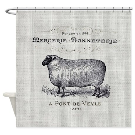 Farm Animal Sheep Farmhouse Shower Curtain By ADMIN CP62325139