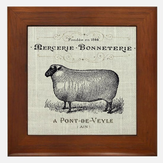 farm animal sheep farmhouse Framed Tile