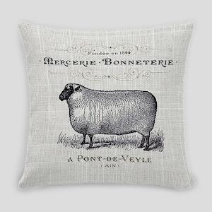 farm animal sheep farmhouse Everyday Pillow