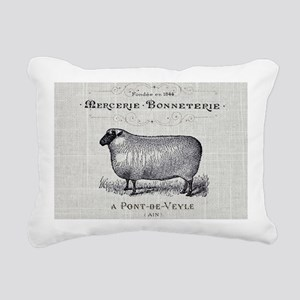 farm animal sheep farmho Rectangular Canvas Pillow