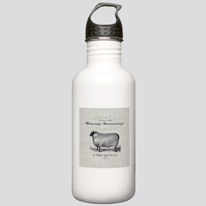 farm animal sheep farm Stainless Water Bottle 1.0L