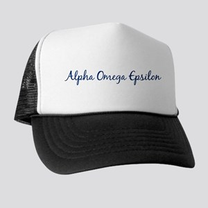 Alpha Omega Epsilon Trucker Hat