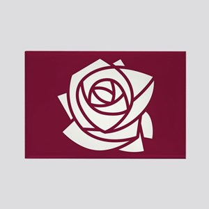 Kappa Delta Chi Rose Rectangle Magnet
