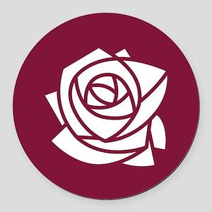 Kappa Delta Chi Rose Round Car Magnet