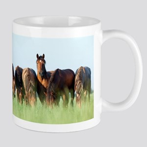 Beautiful horse stallion horses sunset Mugs