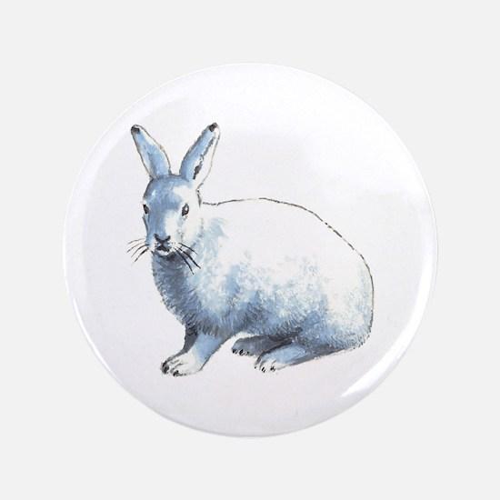 Arctic Snow Hare Button