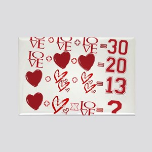 Valentine's Day Love Equation Magnets