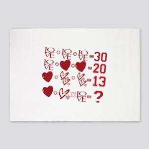 Valentine's Day Love Equation 5'x7'Area Rug