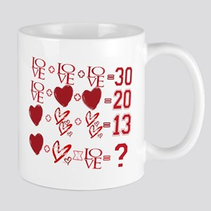 Valentine's Day Love Equation Mugs
