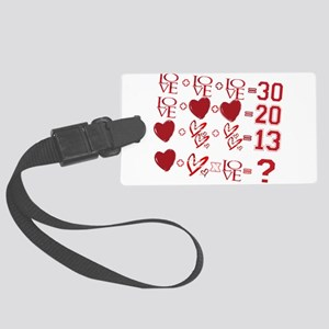 Valentine's Day Love Equation Luggage Tag