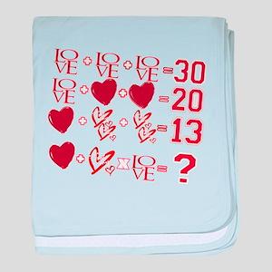 Valentine's Day Love Equation baby blanket