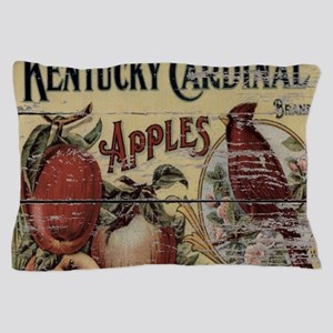country vintage apple cardinals Pillow Case