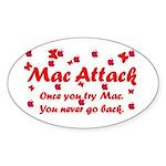 Mac Attack Oval Sticker
