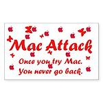 Mac Attack Rectangle Sticker