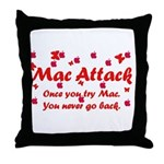 Mac Attack Throw Pillow