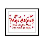 Mac Attack Framed Panel Print