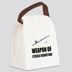 Weapon of Stress Reduction Fishing Canvas Lunch Ba