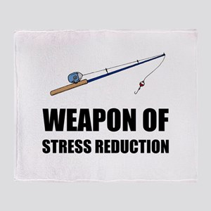 Weapon of Stress Reduction Fishing Throw Blanket