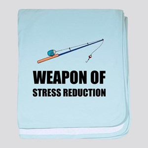 Weapon of Stress Reduction Fishing baby blanket