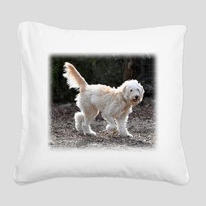 Goldendoodle Square Canvas Pillow