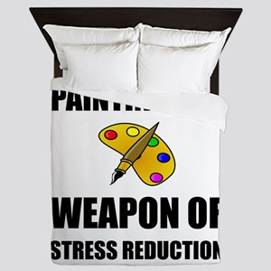 Weapon of Stress Reduction Painting Queen Duvet