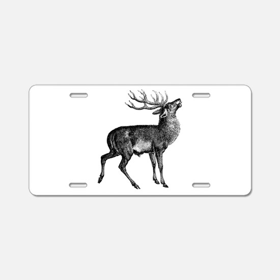 Red Deer Stag Aluminum License Plate