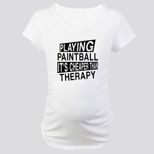 Awesome Paint Ball Player Design Maternity T-Shirt
