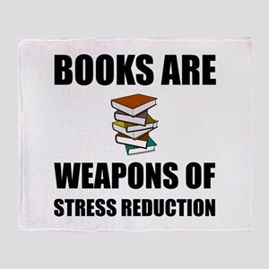 Weapons of Stress Reduction Reading Throw Blanket