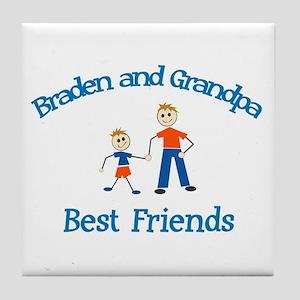 Braden & Grandpa - Best Frien Tile Coaster