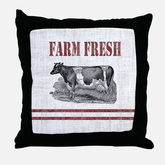 Unique Farm Throw Pillow
